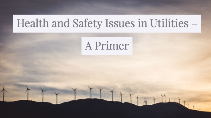 Health and Safety Issues in Utilities – A Primer