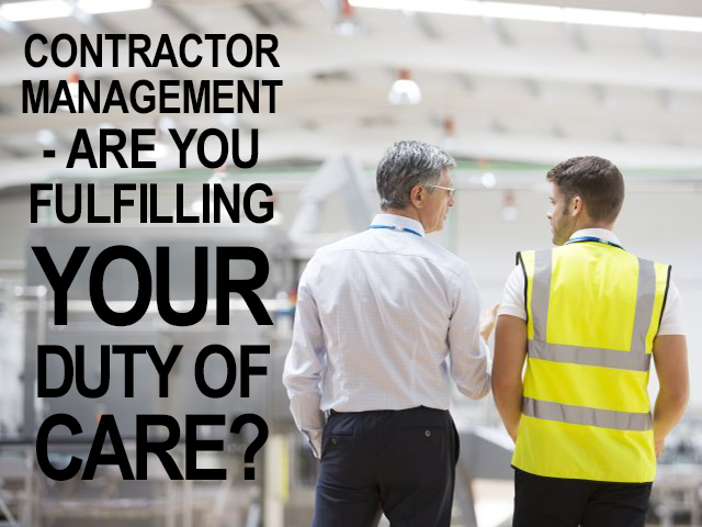 Contractor Management - Are you fulfilling your duty of care?