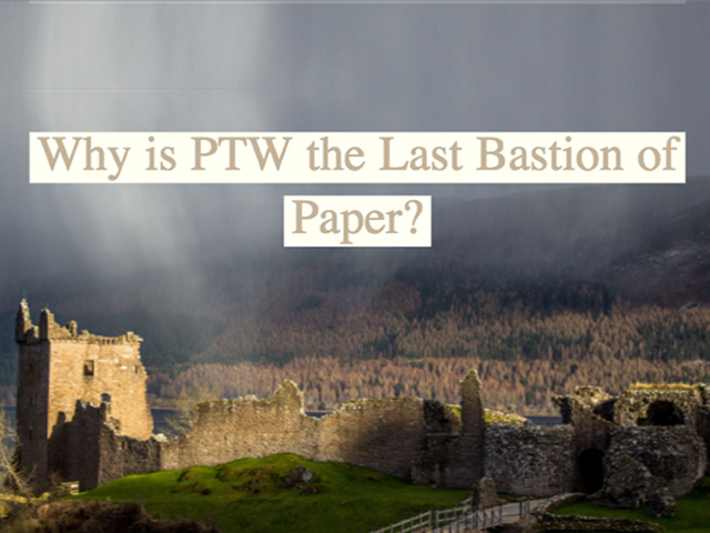 Why is Permit to Work the last bastion of paper?