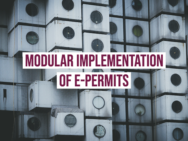 Modular implementation of e-permits