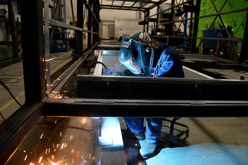 image of a man welding