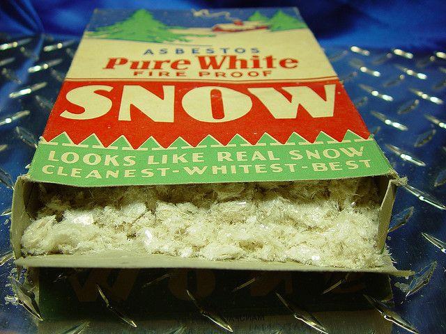 White asbestos snow